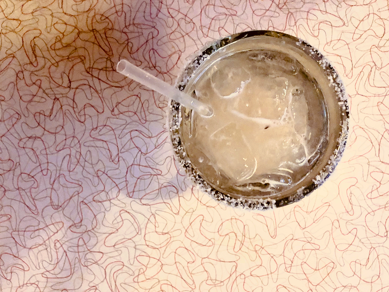 Chuy's Famous Rita with Top shelf tequila on the Rocks